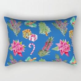 Christmas Pattern with Australian Native Bottlebrush Flower Rectangular Pillow