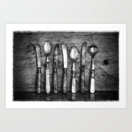 Old Cutlery Art Print