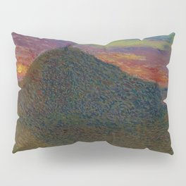 The Evening Haystack at Sunset by Henri Jean Guillaume Martin Pillow Sham