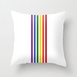 Pride Rainbow Flag Vertical Stripes Throw Pillow