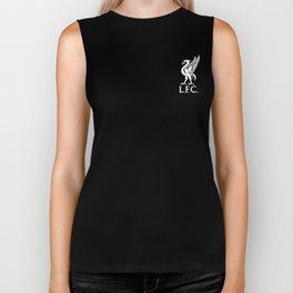 Liverpool FC White on Red 2017 Logo Biker Tank