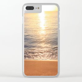 Tropical Sunset Reflecting On Ocean Surface Clear iPhone Case