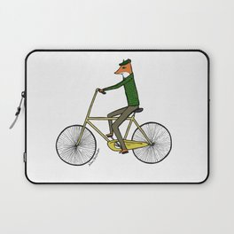 Mr. Fox on a Bicycle Laptop Sleeve