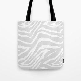 ZEBRA GRAY AND WHITE ANIMAL PRINT Tote Bag