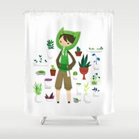 plants Shower Curtains featuring Plants by Zennore