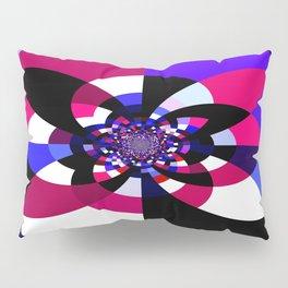 Magenta Purple Indigo Kaleidoscope Mandala Pillow Sham