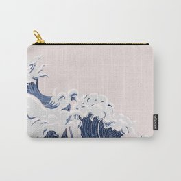 Ocean Wave on Pink Carry-All Pouch