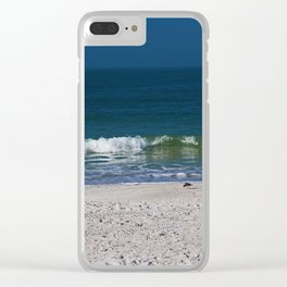 The Sandpiper and the Sea Clear iPhone Case