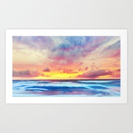 Lonas planet stormy evening Art Print