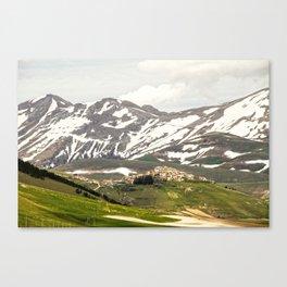 Italian mountain landscape Canvas Print