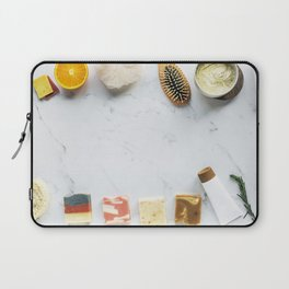 Zen Spa Treatment Marble Background Laptop Sleeve