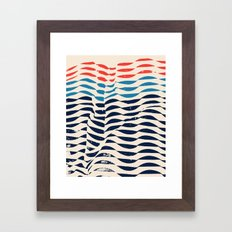 Indigo Temple Rib Framed Art Print