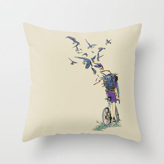 TweetJourney Throw Pillow