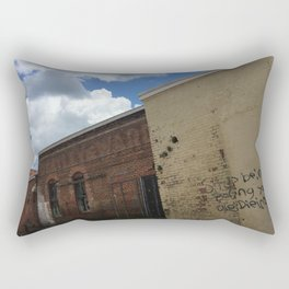 Stop being boring brick wall Alabama Rectangular Pillow