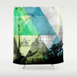 Abstract Geometry V3  Shower Curtain