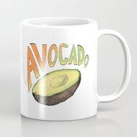 avocado Mugs featuring Avocado by Ken Coleman