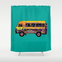 Dakar Car Rapide Shower Curtain