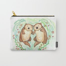 Otters Holding Hands Carry-All Pouch