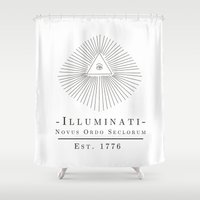 illuminati Shower Curtains featuring Illuminati by Fabian Bross