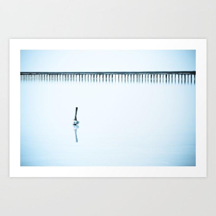 Blue loneliness Art Print