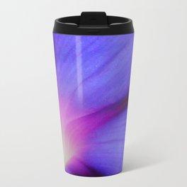 Macro of A Royal Purple Ipomoea Flower Travel Mug