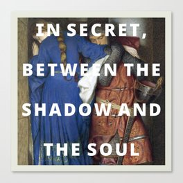 the shadow and the soul Canvas Print