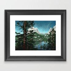Tetons across Jenny Lake Framed Art Print