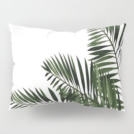 Tropical Exotic Palm Leaves I Pillow Sham