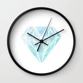 Diamond watercolour Wall Clock