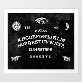 Black Ouija Art Print