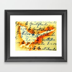 Love and Gratitude Framed Art Print