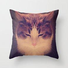 Symmetrical Feline Throw Pillow