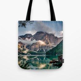 Italy mountains lake Tote Bag