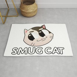 Smug Cat (text) Rug