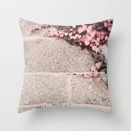 Pink Ivy  Throw Pillow