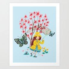 Butterfly Catcher Art Print