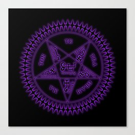 Sebastian Michaelis Sigil Dark (black bg) Canvas Print