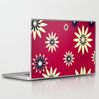 daisies Laptop & iPad Skins featuring Daisies by Armin