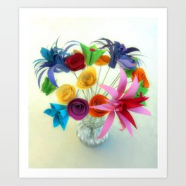 Paper Bouquet Art Print