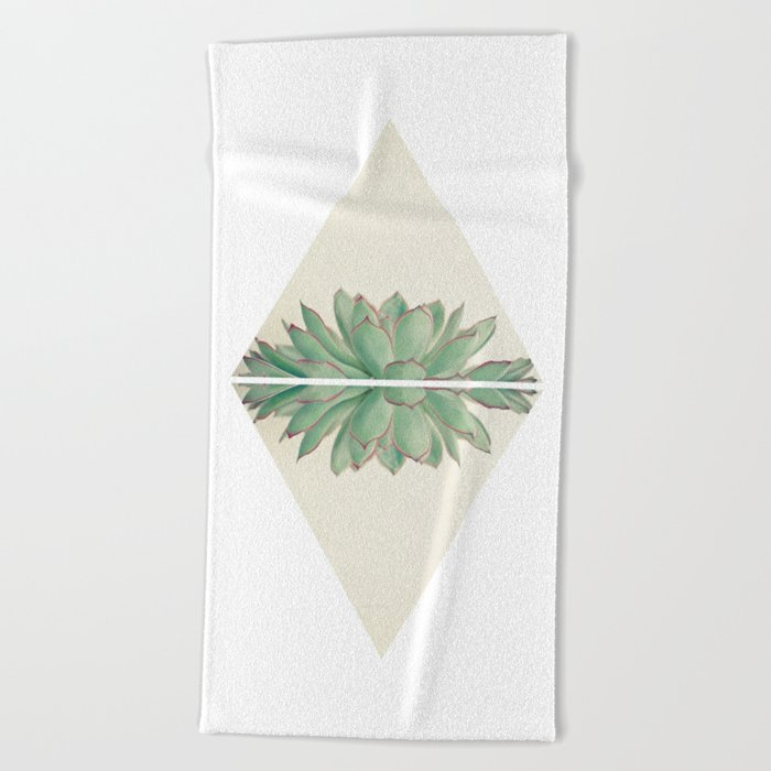 Echeveria II Beach Towel