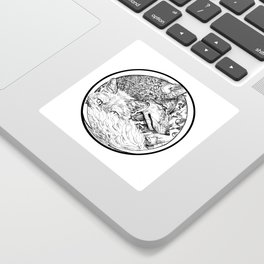 The Wolf and the Fox Sticker
