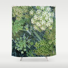green wild flowers Shower Curtain