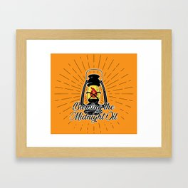 Midnight Oil - Orange Framed Art Print