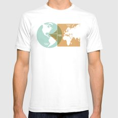 Sail Outside the Box Mens Fitted Tee White LARGE