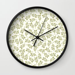 Floral Heart Collection – Foliage Wall Clock