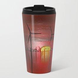 Windmills in the Sun (Digital Art) Travel Mug