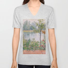Karin By The Shore - Carl Larsson Unisex V-Neck