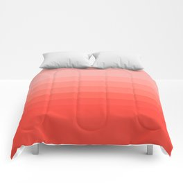 Living Coral Light to Bright Gradient Comforters