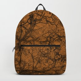 Ocher Orange Hunting Camo Pattern Backpack