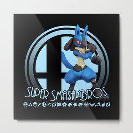 Lucario - Super Smash Bros. Metal Print